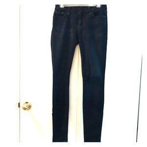 7 for all Mankind super dark wash skinny jeans